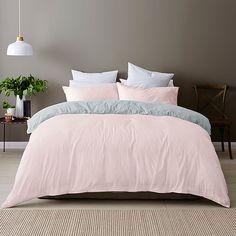 Linen Cotton Quilt Cover Set – Pink | Target Australia