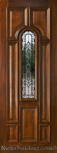 Simple Elegant Mahogany Exterior Single Doors in 8ft Height Trending - New Steel Entry Doors with Glass Pictures