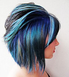 Colorful hair styles | Brit+co - one day when I go gray, I'll add purple and blue like this