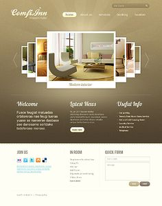 Hotel HTML5 Website Design With Homepage Image Carousel Gallery