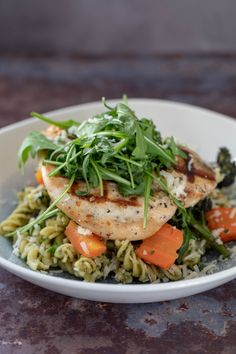 59 at The Hollies Chicken And Brocolli, Pesto Chicken, Broccoli, Basil Pesto, Pesto Pasta, Fusilli, Tasty Dishes, Parmesan, Carrots