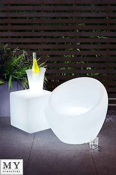 My Furniture - EXO outdoor LED illuminated furniture accessories- Easy Chair Interior Led Lights, Led Furniture, Pink Room, Decorative Accessories, Outdoor Chairs, Exo, Lighting, Home Decor, Beach House