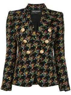 double breasted tweed jacket