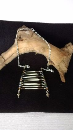 Quill Necklace Ladder Style Genuine Porcupine Quills #Handmade #BibLadder