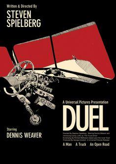 Duel - movie poster - Toby Whitebread aka New Analog Design