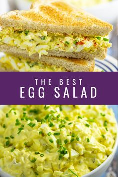 Mar 2020 - Classic egg salad should be creamy, tangy, and perfect for sandwiches. This delicious homemade recipe is easy to make and the best you'll ever have! Great for a healthy low carb keto lunch. Also gluten free and dairy free. Healthy Salad Recipes, Lunch Recipes, Breakfast Recipes, Easter Recipes, Egg Recipes, Free Recipes, Dinner Recipes, Cheap Meals, Easy Meals