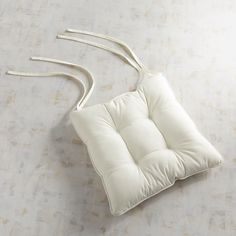 Square Bistro Cushion In Cabana Cream Ivory