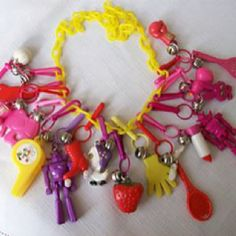 Plastic charm bracelets...