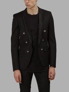 BALMAIN Balmain Men'S Black Blazer. #balmain #cloth #blazers