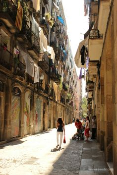 Beautiful shot of one of the streets in the Raval. I love the Raval. photo Bobbie Nicole