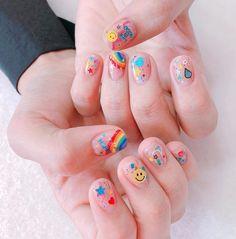 Cute Acrylic Nails, Cute Nail Art, Cute Nails, Pretty Nails, Aycrlic Nails, Nail Manicure, Swag Nails, Hair And Nails, Korean Nail Art