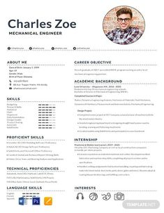 FREE Resume for Software Engineer Fresher Template - Word (DOC) | PSD | InDesign | Apple (MAC) Apple (MAC) Pages | Publisher | Illustrator | Template.net Resume Format For Freshers, Job Resume Format, Resume Design Template, Cv Format, Resume Software, Sample Resume, Mechanical Engineering Jobs, Mechanical Engineer Resume, Cv Ingenieur