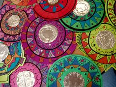 Hispanic Heritage month--folk art mirrors