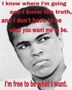 Muhammad Ali was as much of a monumental athlete as he was an inspirational humanitarian. His reach impacted American society far beyond the ropes of the ring. Muhammad Ali Nicknames: The Greatest,… Citation Mohamed Ali, Muhammad Ali Quotes, Montag Motivation, Quotes Motivation, Float Like A Butterfly, George Foreman, Marie Curie, Steve Jobs, African American History