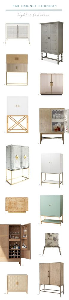 Stylish bar cabinet roundup | Light and feminine