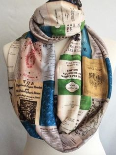 Classic Book Covers Infinity knit scarf