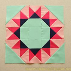 Make It Blossom by Sandra Clemons: Summer Sampler Quilt Along - Block 6 Quilt Block Patterns, Pattern Blocks, Quilt Blocks, Star Blocks, Quilting Tutorials, Quilting Projects, Quilting Designs, Sampler Quilts, Star Quilts