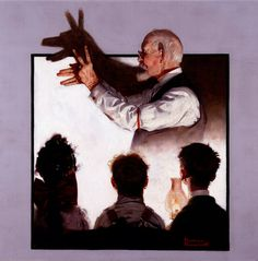 'Shadow Artist', by Norman Rockwell, The Country Gentleman from February 7, 1920 featured this illustration.