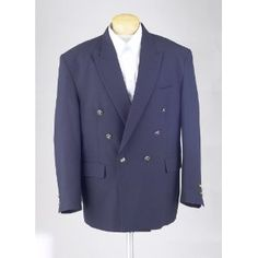 New Mens Navy Blue Double Breasted Dinner Blazer Suit Jacket (Apparel)  http://www.picter.org/?p=B001OLQCDI