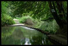 Stepping Stones over the River Mole, Box Hill, Dorking by Johan J.Ingles-Le Nobel, via Flickr