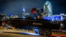This is a 1 of a kind Malibu 23LSV by Inland Boat Company with Dreamworks Motorsports #Malibu #23LSV #Boat #wakeboarding