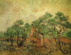 """Olive Pickers"" by Vincent van Gogh via DailyArt app, your daily dose of art getdailyart.com"