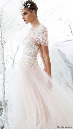 mira zwillinger bridal 2017 strapless sweetheart aline wedding dress (viola) capelet sv
