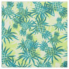 Pineapple Camo Hawaiian Tropical Fabric