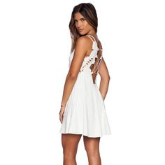 NWOT Free People White Backless Dress Never worn, perfect condition. Such a perfect dress & needs to be loved! Bought for $128 on Revolve Clothing website. Sold out there and the free people website!! Size small. ❌Trades. ❌PayPal. ✅OFFERS WELCOME! Free People Dresses