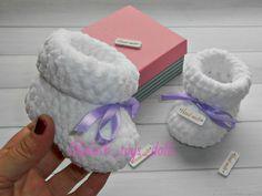 Купить Плюшевые пинетки Зефирки Мастер класс, пинетки для новорожденных в интернет магазине на Ярмарке Мастеров