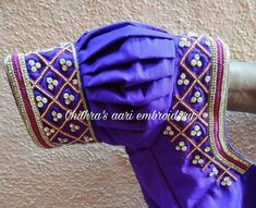Kids Blouse Designs, Saree Blouse Neck Designs, Bridal Blouse Designs, Designer Blouse Patterns, Sleeve Designs, Work Blouse, Embroidered Blouse, Jewelry Trends, Sarees