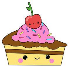 Resultado de imagem para bolo kawaii desenho