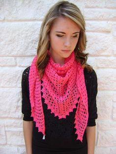 Easy Triangle Scarf or Shawl project on Craftsy.com