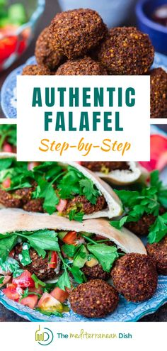 This is the Authenic Falafel recipe that you will love. Have them in warm pita sandwiches with tahini sauce or hummus, along with my lazy Mediterranean tomato and cucumber salad. Perfect for a family dinner at home anytime of the week! Vegetarian Recipes Easy, Good Healthy Recipes, Quick Recipes, Amazing Recipes, Clean Eating Recipes, Easy Mediterranean Recipes, Mediterranean Dishes, Greek Chicken Recipes, Greek Recipes
