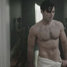 Aiden Turner as Philip Lombard in a towel - think I just melted.  BBC's adaptation of Agatha Christie's And Then There Were None, Dec 2015.