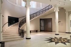 The Landmarked Museum of the City of New York Goes Green With a LEED-Seeking Renovation Staircase Railings, Grand Staircase, Staircases, Abigail Kirsch, New York Statue, Gate Decoration, New York Galleries, Window Air Conditioner, Entrance Gates