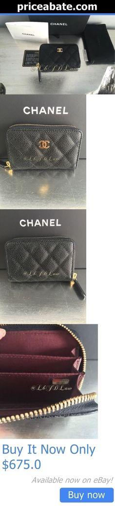 90f66b455449e9 Women Bags And Accessories: Nwt Chanel 2016 Black Caviar Gold Cc Zip Wallet  Coin Purse