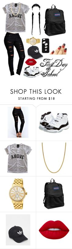 """First day of school"" by baddieabi ❤ liked on Polyvore featuring Boohoo, Concord, Giani Bernini, Brera Orologi, JanSport, adidas, Lime Crime and STELLA McCARTNEY"
