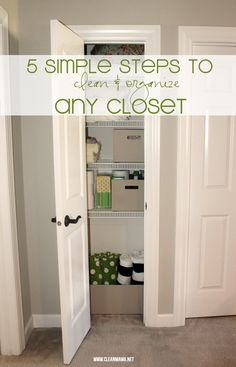 Clean and organize your closets in no time flat! Simple tips to get the job done ASAP.