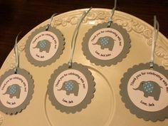 Elephant party FAVOR TAGS Thank you tags by ThePinkPapermill
