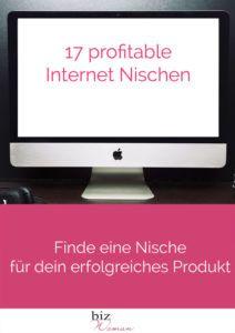 17 profitable Internet Nischen!  Dieses eBook zeigt dir in einfachen Schritten wie du deine Nische findest.  In diesem eBook helfe ich dir, die richtige Nische zu finden.  Zeige dir die 3 grössten Märkte.  Stelle 17 profitable Nischen vor.
