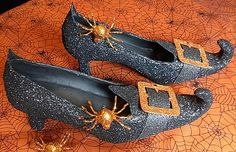 How to make witches shoes out of ordinary shoes