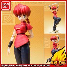 "100% Original BANDAI Tamashii Nations S.H.Figuarts (SHF) Action Figure - Ranma Saotome (Girl) from ""Ranma 1/2"""