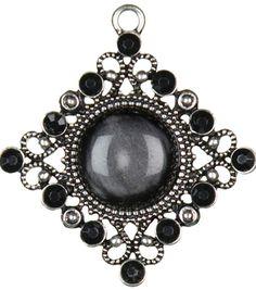 Jewelry Basics Metal Accent 1/Pk-Silver/Black Diamond