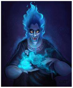 Hades, an art print by Niniel Illustrator Film Disney, Arte Disney, Disney Fan Art, Disney Magic, Disney Movies, Disney And Dreamworks, Disney Pixar, Hades Tattoo, Images Disney