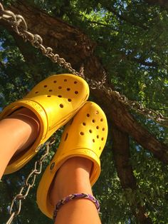b0d1d949797ff 🦋pinterest  TornadoBby • IG  torichildress🦋 Yellow Crocs