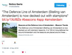 The Defence Line of Amsterdam (Stelling van Amsterdam) is now decked out with stampions #beacons #app #amsterdam