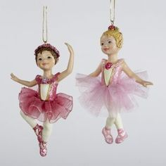 Ballerina Girl Christmas Ornaments Item Adorable ballet dancing girl ornaments, each in pink fabric ballet tutus accented with flowers and glitter Pink Christmas Ornaments, Christmas Fairy, White Christmas, Christmas Tree Decorations, Little Girl Ballet, Ballet Girls, Creative Christmas Trees, Christmas Time Is Here, Christmas Central