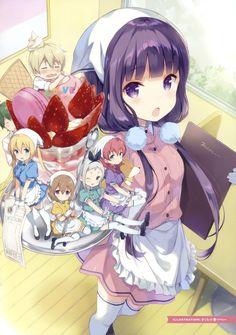 amano_miu blend_s color_issue cream dino_(blend_s) hinata_kaho hoshikawa_mafuyu kanzaki_hideri maid sakura_koharu sakuranomiya_maika thighhighs trap waitress Art Manga, Manga Girl, Anime Girl Neko, Fan Anime, I Love Anime, Tsundere, Anime Maid, Kairo, Another Anime