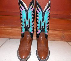 Nocona Leather Painted Cowboy Boots
